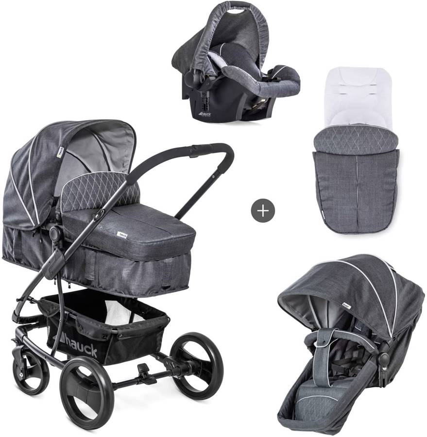 Hauck Pacific 4 Shop N Drive Lightweight Pushchair Set