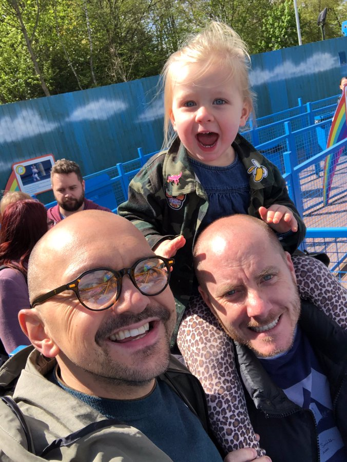 Michael, Wes and Talulah on a family day out