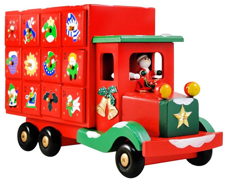 Hand Painted Christmas Truck Countdown to Christmas Advent Calendar
