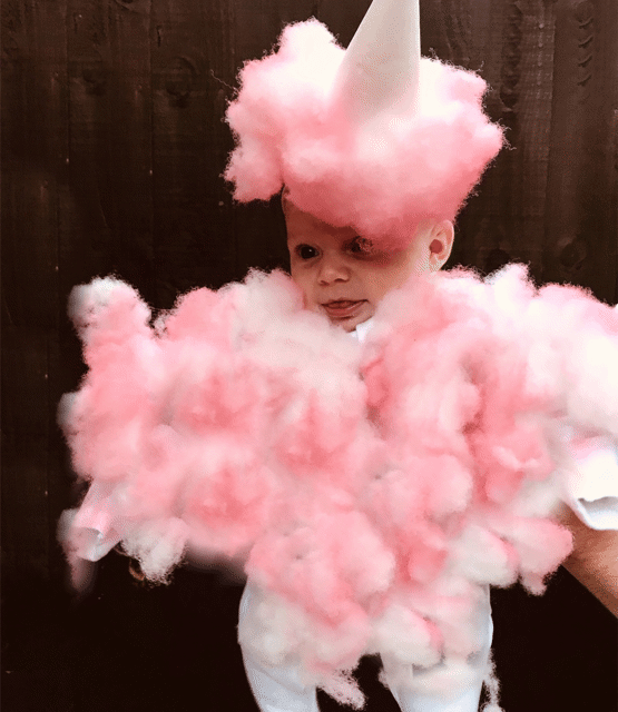 Indie dressed as Candy Floss